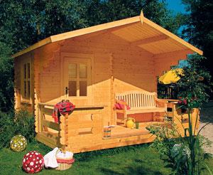 Un sauna en aménagement extérieur.